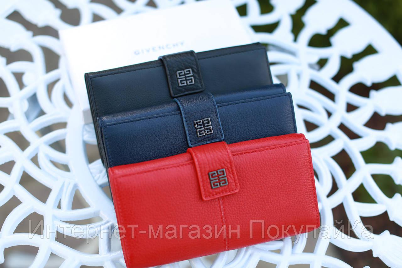 867777319409 Кошелек женский брендовый в стиле Givenchy кожаный красный Арт Natalie, ...