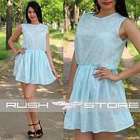 Нежное голубое платье из батиста