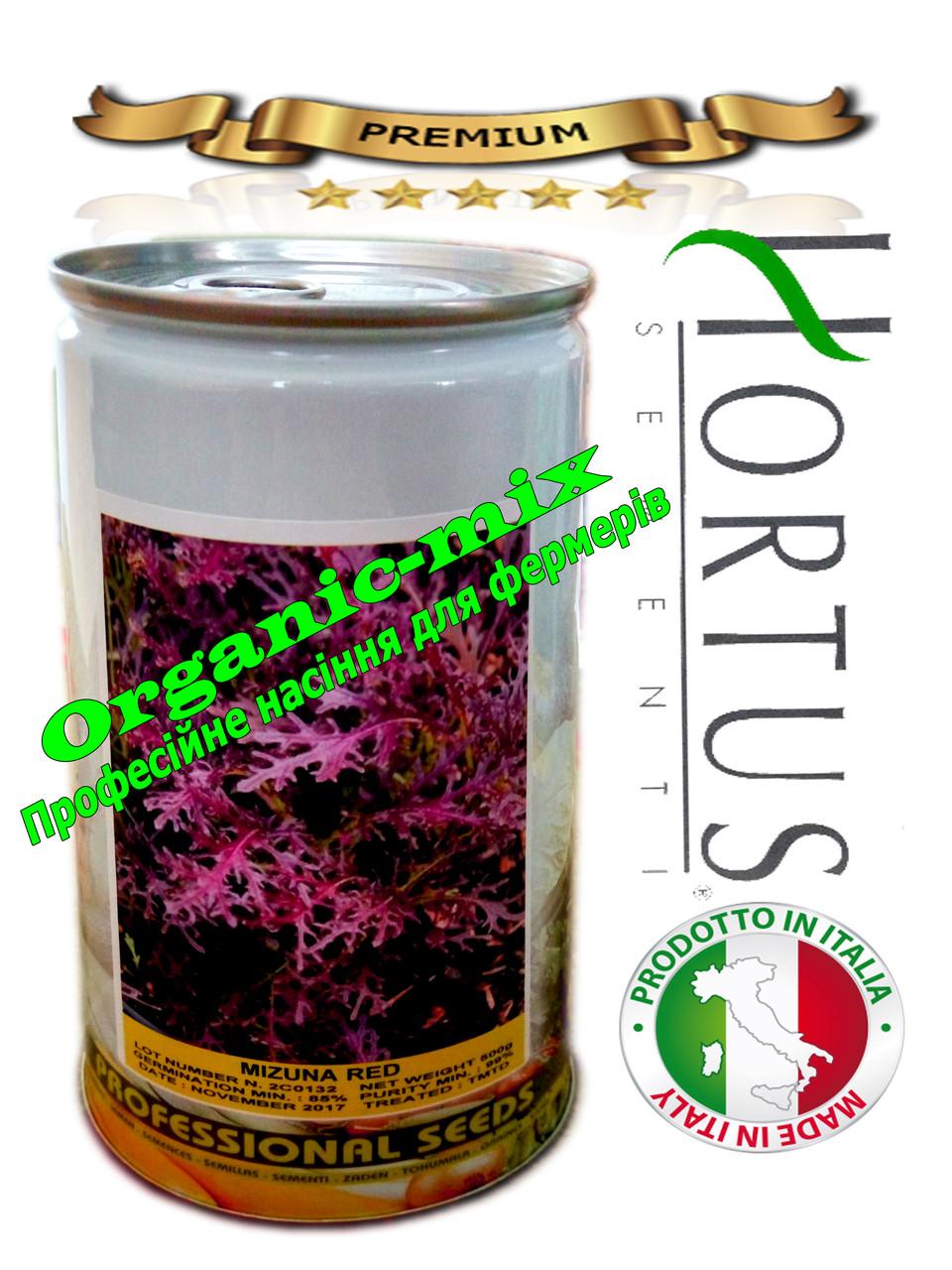 Салат Мизуна красная / Mizuno red ТМ «Hortus» (Италия), банка 500 грамм