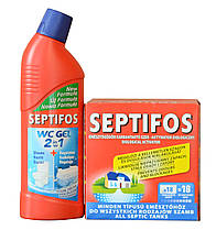 SEPTIFOS 0.648 г та SEPTIFOS ws gel 2 in1 (бактерія для вигрібних ям)
