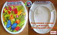 Сиденье для унитаза с рисунком Тюльпан NOVA (2012.004), фото 1