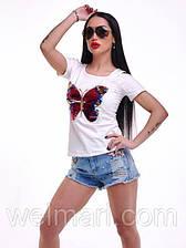 Женские шикарные джинсовые шорты украшены стразами    (велмар)