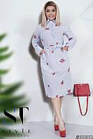 Эффектное стильное платье-рубашка с 50 по 56 размер