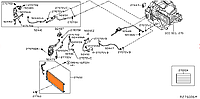 Радиатор кондиционера Nissan Leaf AZE0 SL/SV (13-17) 92110-3NK0B
