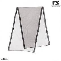 Чёрный лёгкий  шарф-, фото 2