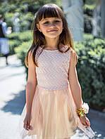 """Нарядное детское платье """"Золотце"""" с золотым подъюпником р. 116-134, фото 1"""
