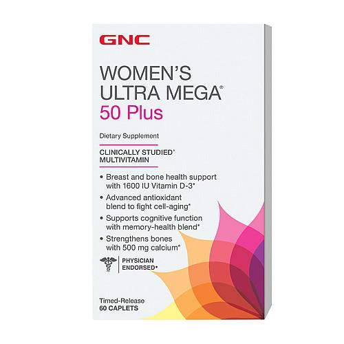 Витамины для женщин GNC Womens Ultra Mega 50+ 60 caps