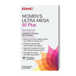 Вітаміни для жінок GNC Womens Ultra Mega 50+ 60 caps