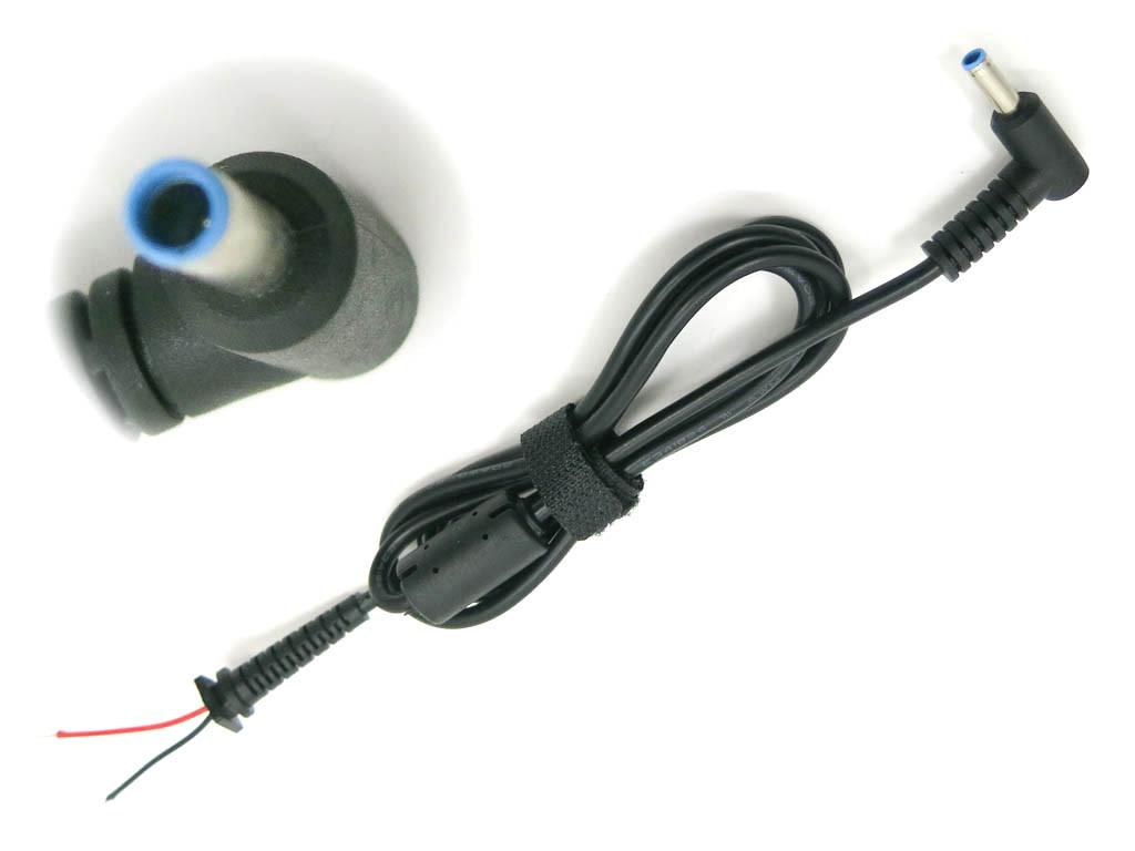 DC кабель HP (4.5*3.0+Pin) Blue 45W-90W от блока питания к ноутбуку.