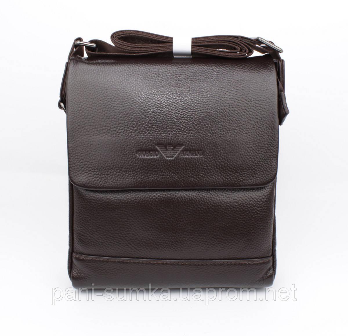 11a40bb66952 Сумка мужская кожаная Giorgio Armani 7911-3 коричневая: продажа ...