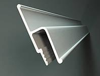 Профиль алюминиевый h-образный для натяжных потолков, облегченный