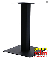 Опора для стола Лена, крашенная, цвет черный, высота 72 см, размер 40*40 см