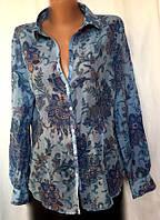 Женская блуза - рубашка Massimo Dutti из батиста, размер M, фото 1