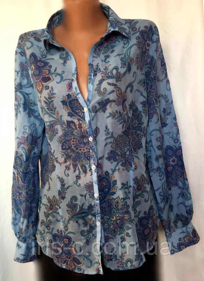 Женская блуза - рубашка Massimo Dutti из батиста, размер M