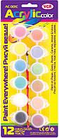 """Набор красок VGR """"Acrylic"""" 12 цветов AC001C"""