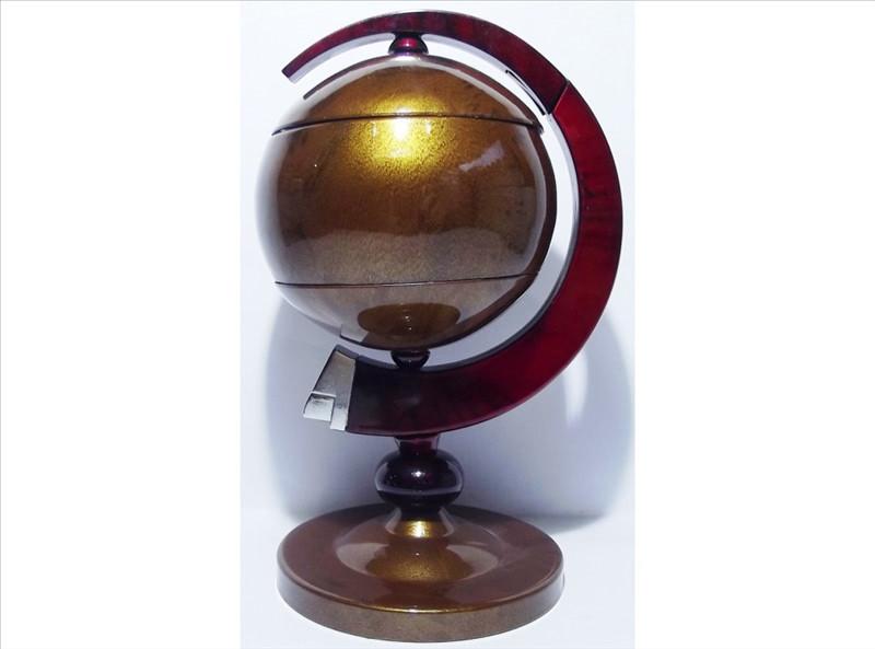 """Настольная зажигалка """"Глобус"""" работает на газе пьезовый поджиг турбо-пламя"""