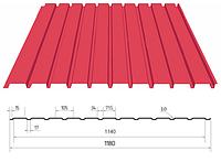 Профнастил ПС-10 Цинк (без покрытия) 0,45 мм