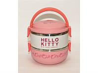 Термос для еды Hello Kitty  2 отделения 1.4 л пищевой термос с контейнерами ланчбокс