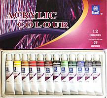 Акриловые краски 12 цветов, 12мл., артикул 9612