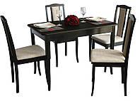 Комплект Джулия (стол+4 стула) венге BELEN бежевый.