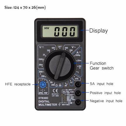Мультиметр многофункциональный DT-830B, фото 2