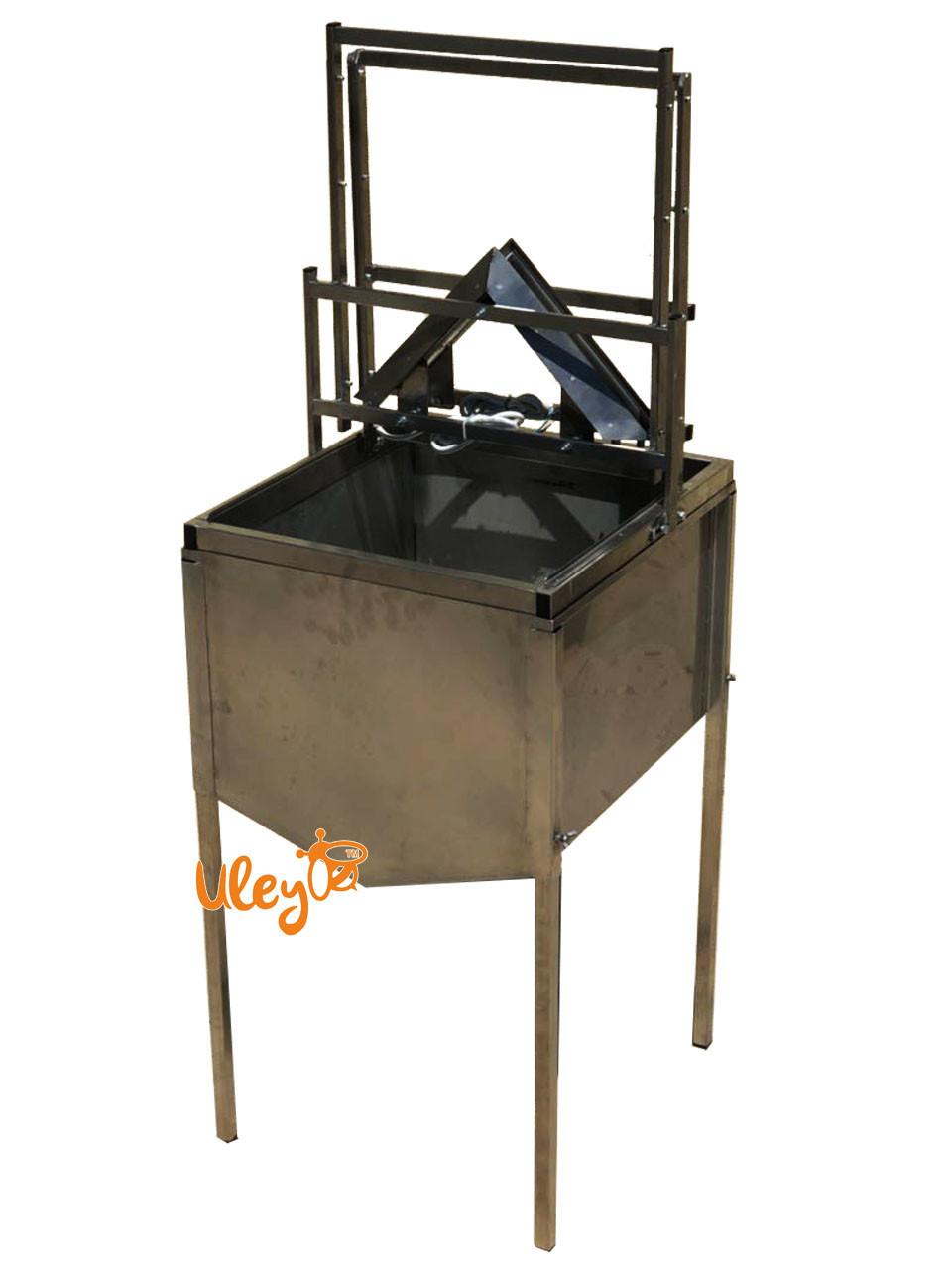 Станок для распечатывания сот с бункером (механический)
