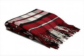 Плед бавовняний Vladi - Лондон червоно-чорно-білий 140*200 полуторний