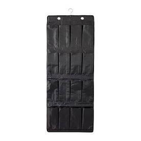 IKEA, SKUBB, Подвесной модуль для обуви/16 карманов, черный (20251974)(202.519.74) СКУББ СКУБ ИКЕА