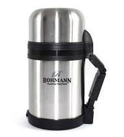 Термос 1л с широким горлышком 2в1 ( для еды и для чая ) Bohmann BH 4210