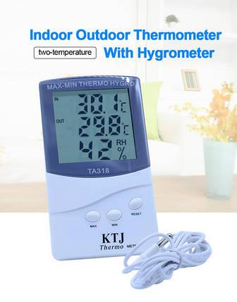 Термогигрометр KTJ ТА-318 + выносной датчик, фото 2