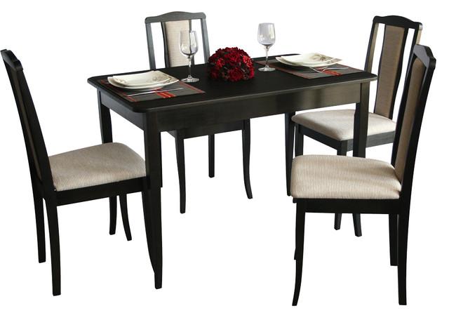 Комплект Джулия (стол+4 стула) венге BELEN беж.