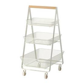 IKEA, RISATORP, Тележка, белый, 57x39x86 см (20281631)(202.816.31) РИСАТОРП ИКЕА
