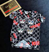 Брендовая футболка Gucci ( Гучи) с рисунком ( мужская и женская) 2018