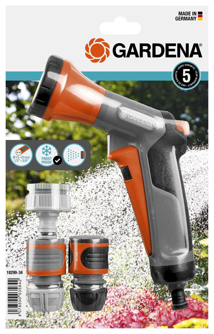 Пистолет для полива Gardena душ + комплект коннекторов