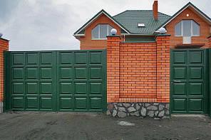 Распашные ворота 3500х2000 заполнение филенка