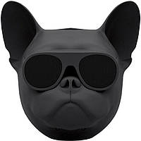 Беспроводная Bluetooth колонка SUNROZ Aerobull Dog Chrome Black (SUN0113), фото 1