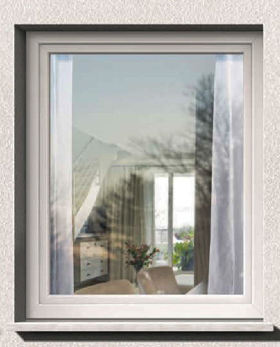 Глухое пластиковое окно Rehau Brillant