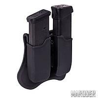 Подсумок пластиковый для двух пистолетных магазинов GLOCK