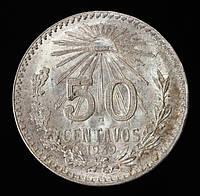 Серебряная монета Мексики 50 сентаво 1939 г.