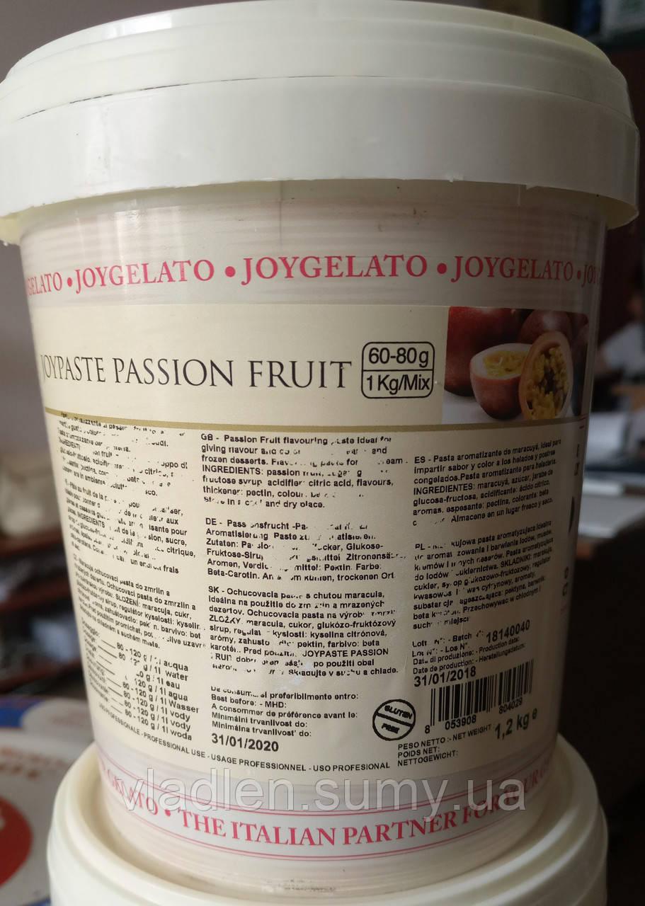 """Натуральная паста со вкусом маракуйи """"Joypaste Passion Fruit"""", Италия (фасовка 1,2 кг)"""