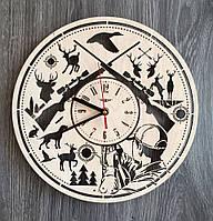 """Деревянные настенные часы """"Охота"""", фото 1"""