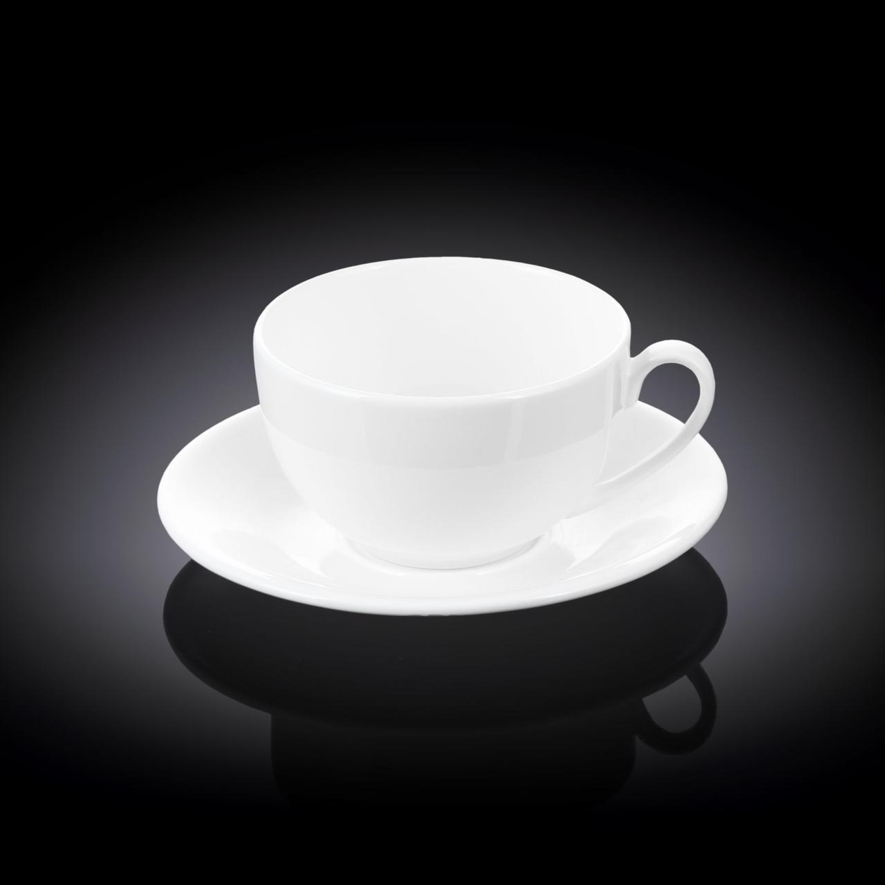 Чашка кофейная Wilmax 100 мл с блюдцем  WL-993002