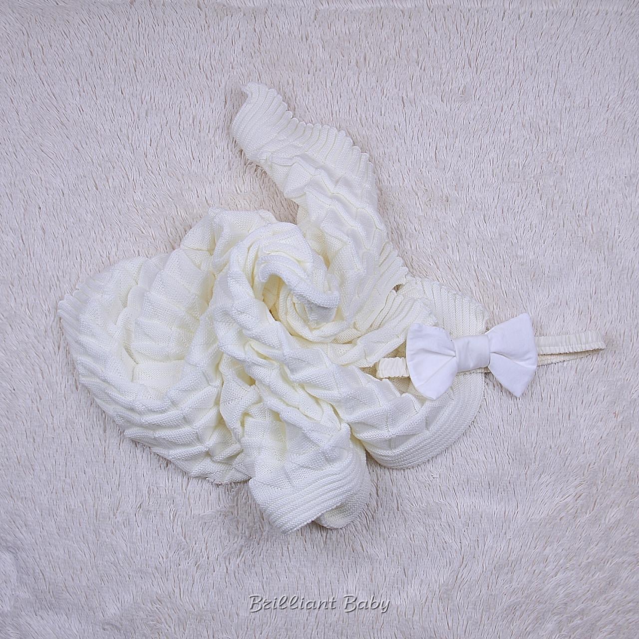 вязаный плед для новорожденного мечта айвори цена 436 грн