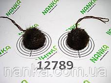 Меховой помпон Чернобурка, Песочный, 4 см, пара 12789, фото 2