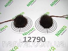 Меховой помпон Чернобурка, Песочный, 4 см, пара 12790, фото 2