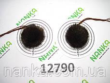 Меховой помпон Чернобурка, Песочный, 4 см, пара 12790, фото 3