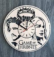 """Деревянные настенные часы """"Игра престолов"""""""