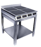 Плита индукционная напольная SKVARA Sif 4.12 (4х3кВт) четырехконфорочная для кафе