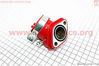 Патрубок карбюратора тюнинг красный  для китайских скутеров 4т 125-150 сс