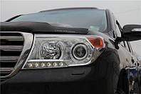 Передние фары тюнинг оптика Toyota Land Cruiser 200 рестайлинг